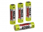 4 BATTERIES AA LR06  2700 Nimh  HAMA